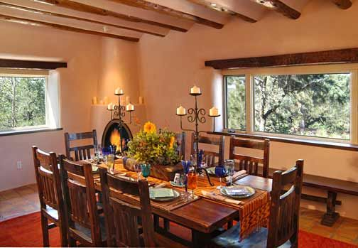 Santa Fe Style Dining Mexican Dining Room Mexico House