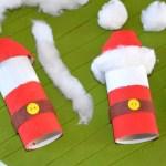 {DiY} Père Noël version Récup en rouleau de carton !! #rouleaupapiertoilettenoel {DiY} Père Noël version Récup en rouleau de carton !! #decodenoelfaitmaison