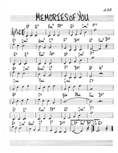 Practice Jazz Jazz Real Book Ii Page 233 Memories Of You Eubie Blake Jazz Standard Sheet Music Jazz Sheet Music Sheet Music Jazz Standard