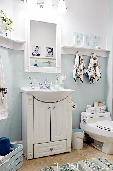 Small Country Bathroom With No Windows Decor Window Mirror Half Bathroom Decor Country Bathroom Bathroom Decor