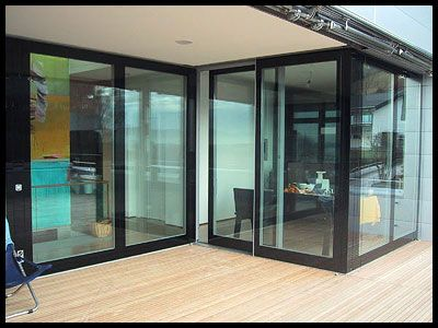 Glass Doors Black Frame