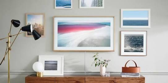 Image result for wood back tv wall white cabinets samsung frame tv ...