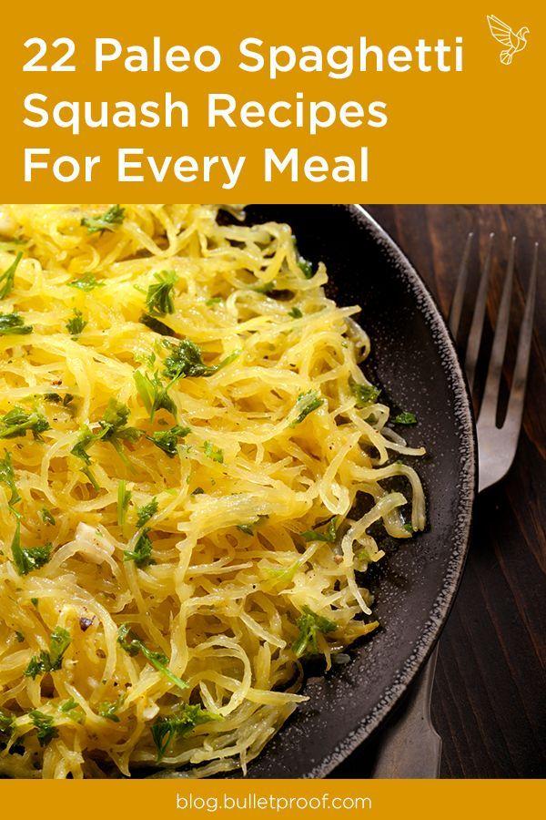 22 Paleo Spaghetti Squash Recipes For Every Meal #spagettisquashrecipes 22 Paleo Spaghetti Squash Recipes For Every Meal #spagettisquashrecipes