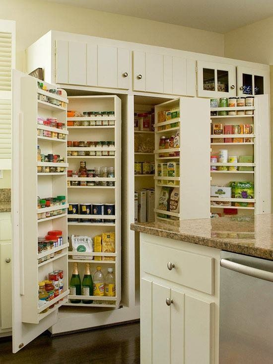 Combine This Concept With The Fridge Depth Pantry Side Cabinets D Kitchen Pantry Design Built In Pantry Pantry Design