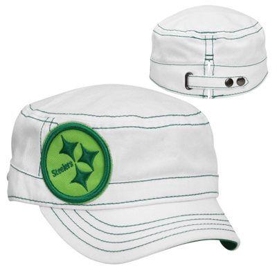 New Era Pittsburgh Steelers St. Patrick s Day Ladies Chic Cadet Adjustable  Hat - White 537ae2952