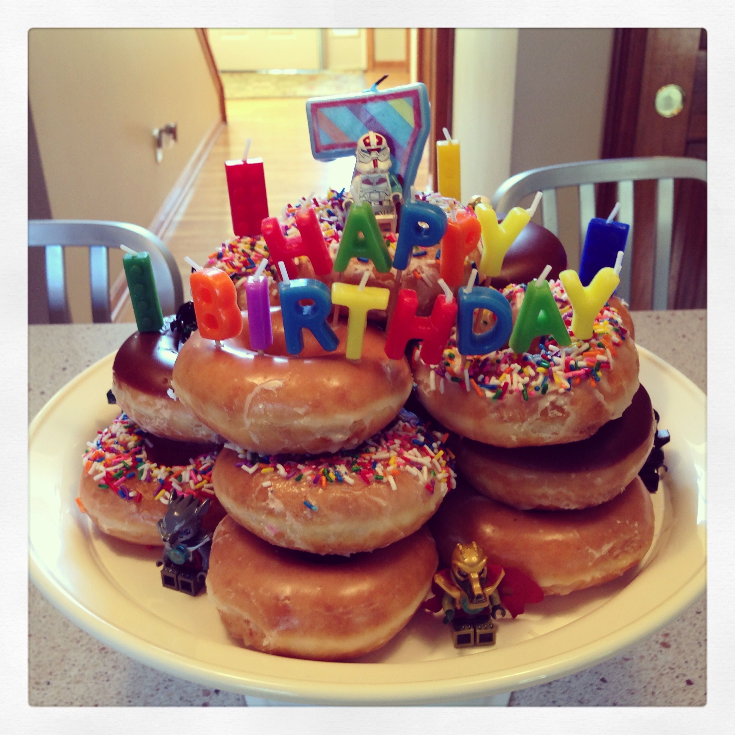 Krispy Kreme Donut Cake Birthday Party Ideas Pinterest Cake