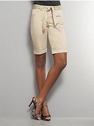 Sateen Bermuda Shorts
