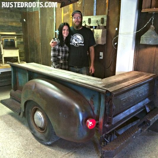 Man Cave Car Art : Vintage truck into countertop man cave garage