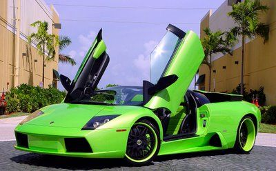 ламборджини фото зеленая