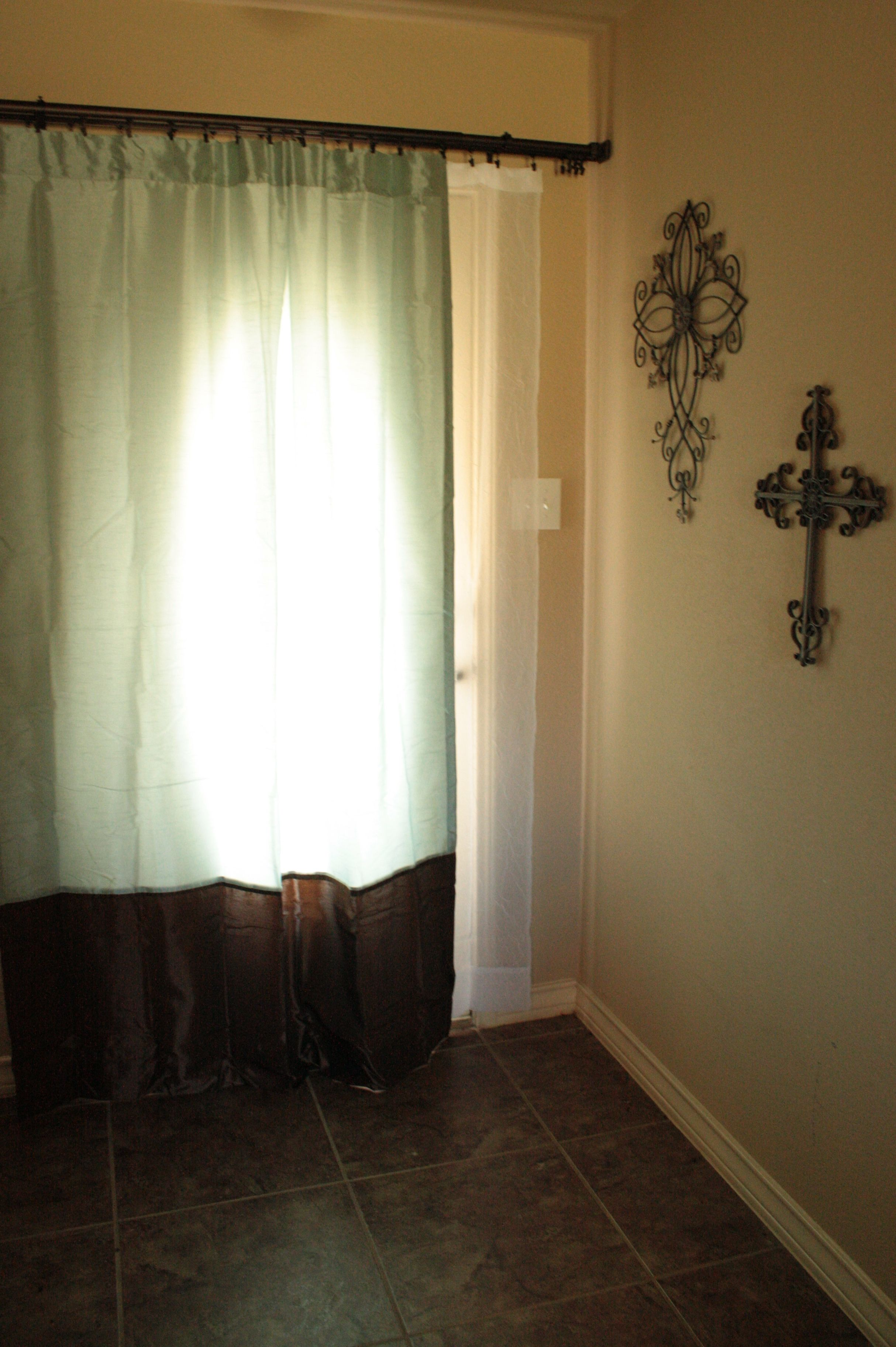 Curtains over the front door...love it! Curtains, Home