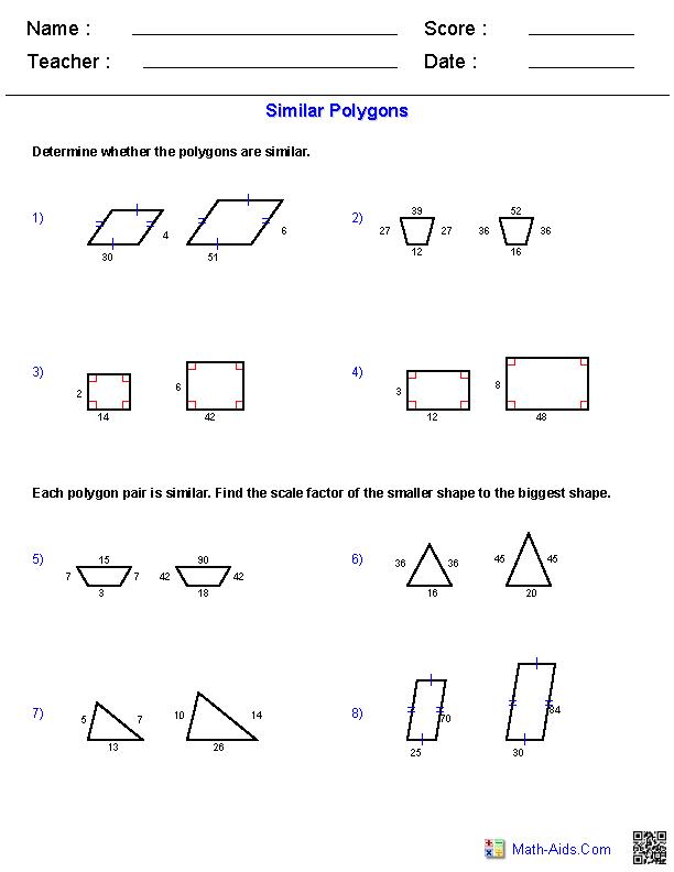 Similar Polygons Worksheet Answers : similar, polygons, worksheet, answers, Geometry, Worksheets, Similarity, Worksheets,, Practice, Triangle, Worksheet