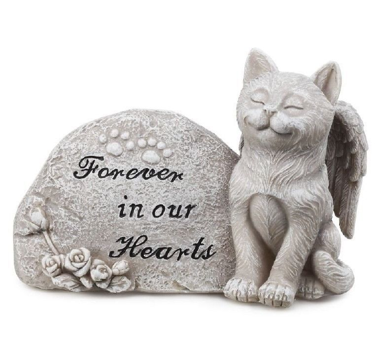 Small Angel Statues For Graves: #Cat Angel Wings Pet Memorial Outdoor Indoor Statue Plaque