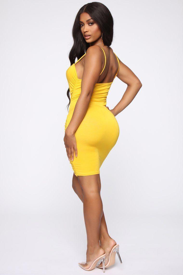 Bodycon Yellow Dresses Yellowdresswedding Yellow dress