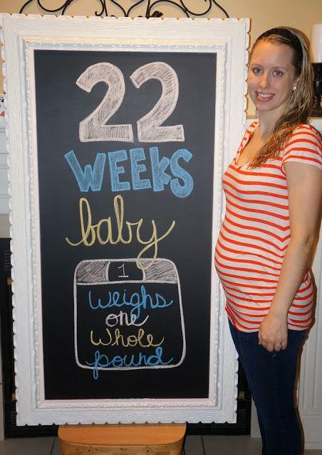 Pregnancy chalkboard 22 Weeks