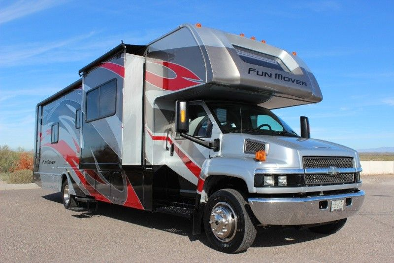 """Airstream For Sale Bc >> Super """"C"""" Duramax Motorhome and Toyhauler Combo called a Fun Mover ... Best of both worlds ..."""
