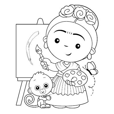 Chapulines Collection En Espanol Fan Art Frida Frida Kahlo Caricatura Frida Kahlo Dibujo Produccion Artistica