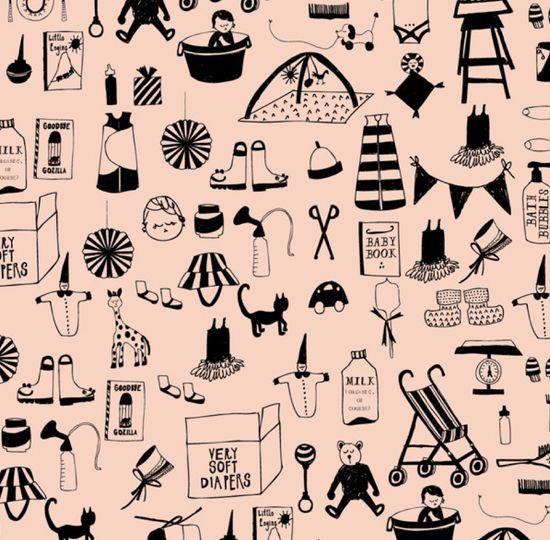 Adorable baby pattern from Mr Boddington's Studio