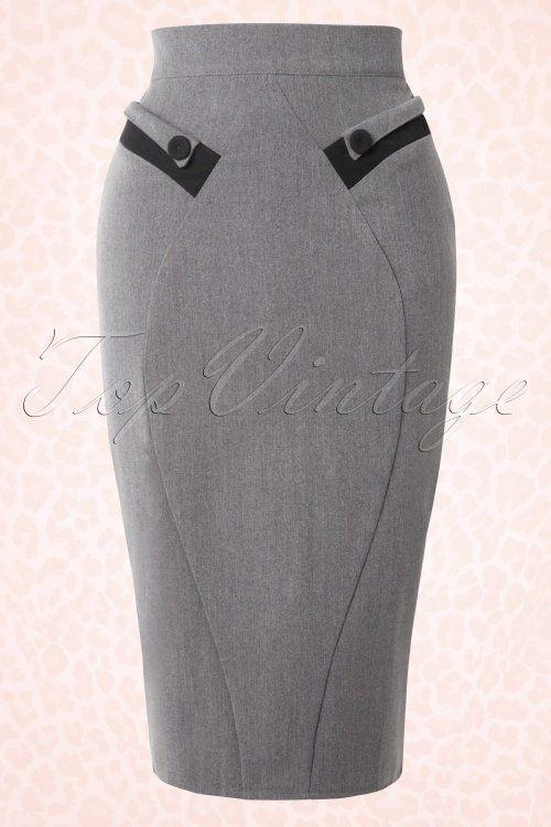 Roman Originals formal de algod/ón el/ástico elegante longitud hasta la rodilla para trabajo recta Falda de tubo con textura corta para mujer c/álida gruesa oficina