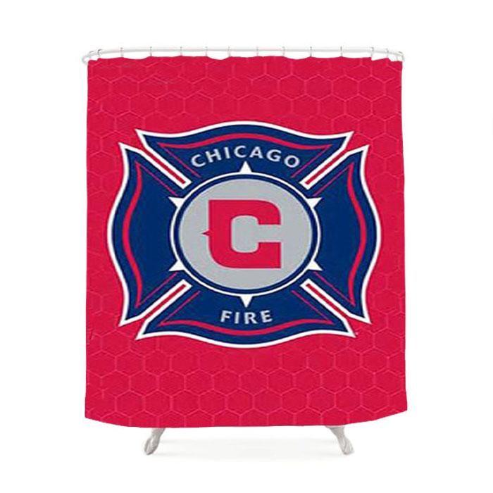 Chicago Fire Logo Shower Curtain Chicago Fire Shower Fire