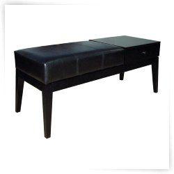 ORE International Classic Rectangular Bench - Black