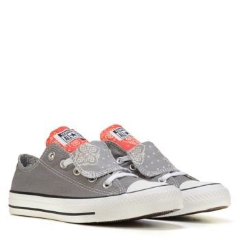 ee30ab595b82c3 Converse Chuck Taylor All Star Double Tongue Low Top Sneaker Mason Grey   Blush