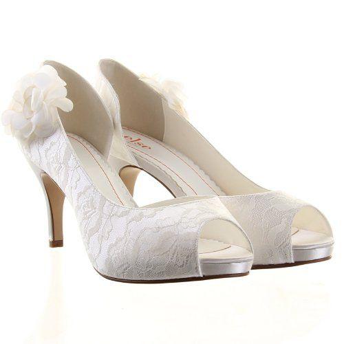 Else By Rainbow Club Gala Lace Wedding Shoes Ivory Uk 4 Eu 37 Wedding Shoes Heels Elegant Wedding Shoes Ivory Wedding Shoes
