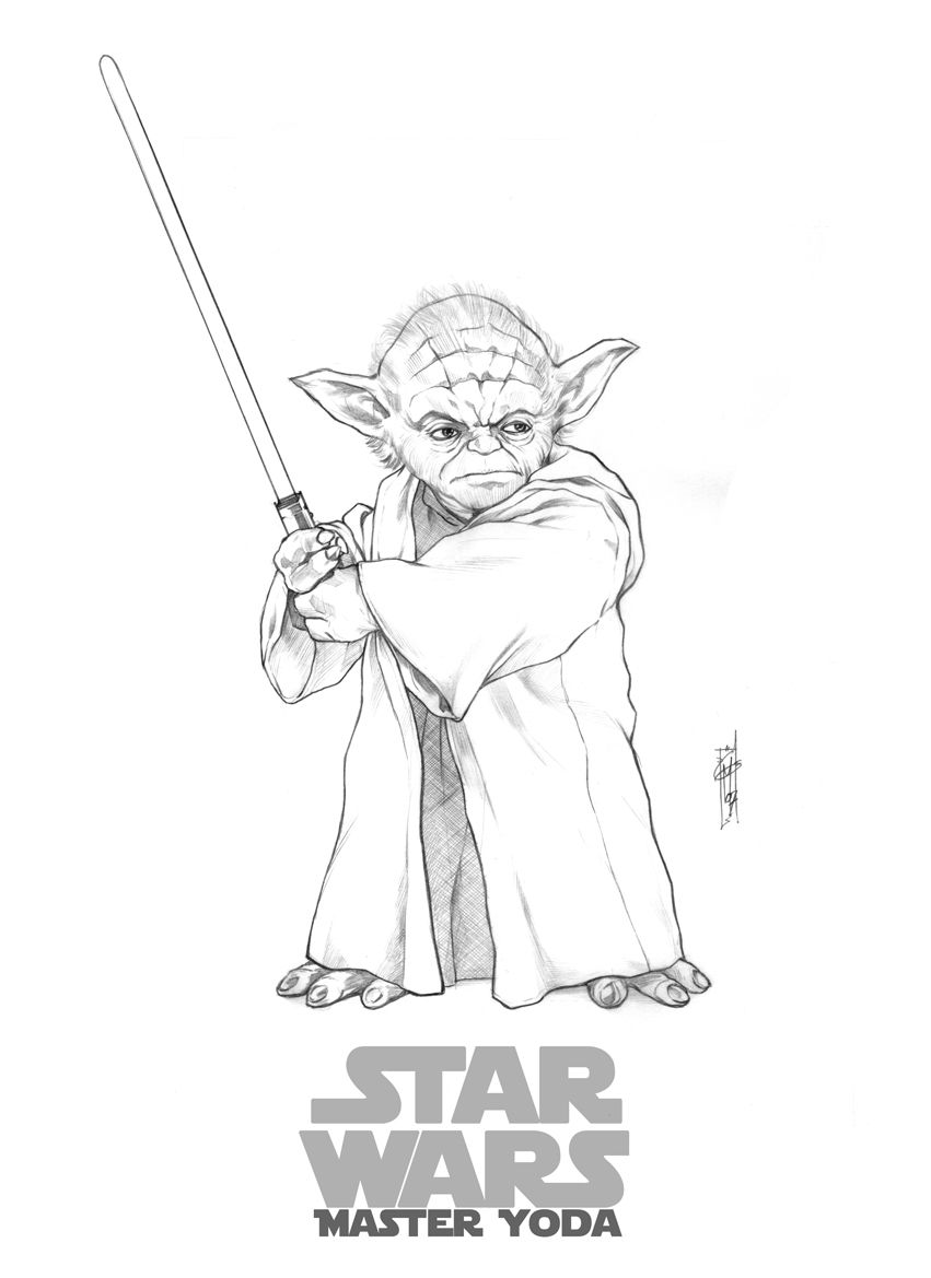 Yoda Coloring Page Pages