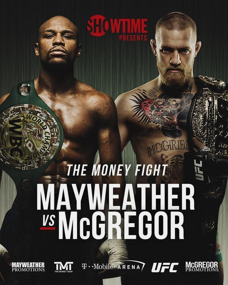 Conor Mcgregor Vs Floyd Mayweather Poster Boxing Ufc Mma Match Art