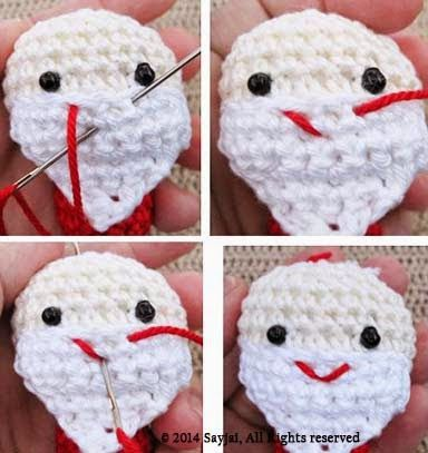 Best Amigurumi Tips and Tricks for Doll Faces - thefriendlyredfox.com | 407x384