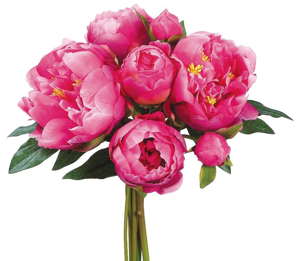 Dark pink peony bouquet pink peonies bouquet silk