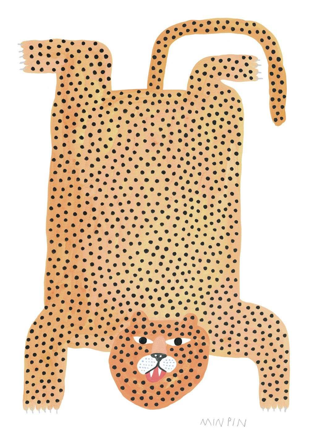 Jaguar Rug Print Min Pin Illustration Art Animal Illustration Graphic Design Illustration