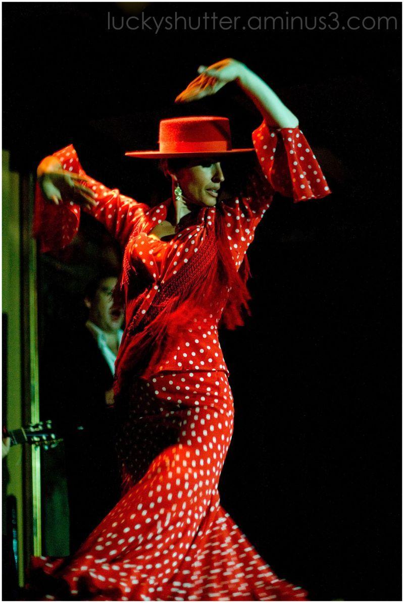 Dancer With Spanish Hat Flamenco Dress Spanish Dress Flamenco