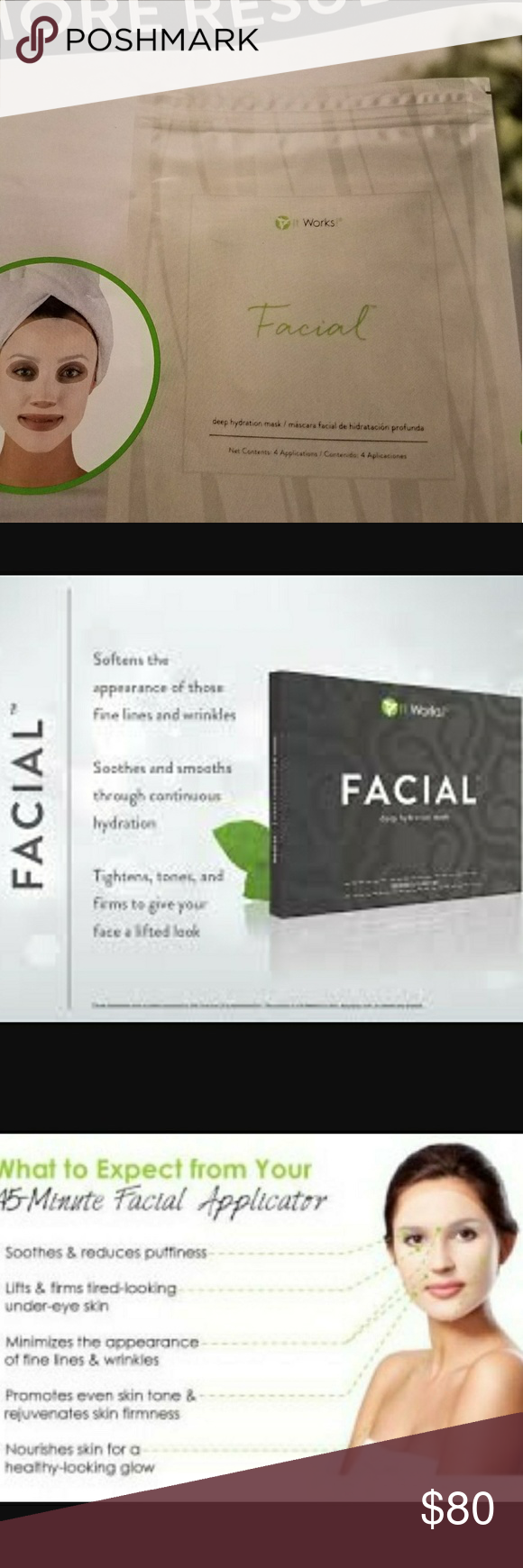 Pack of facial wraps *see photo*  bundle with exfoliating peel and receive the peel FREE * message me for more details!!   *extra discount included* Other