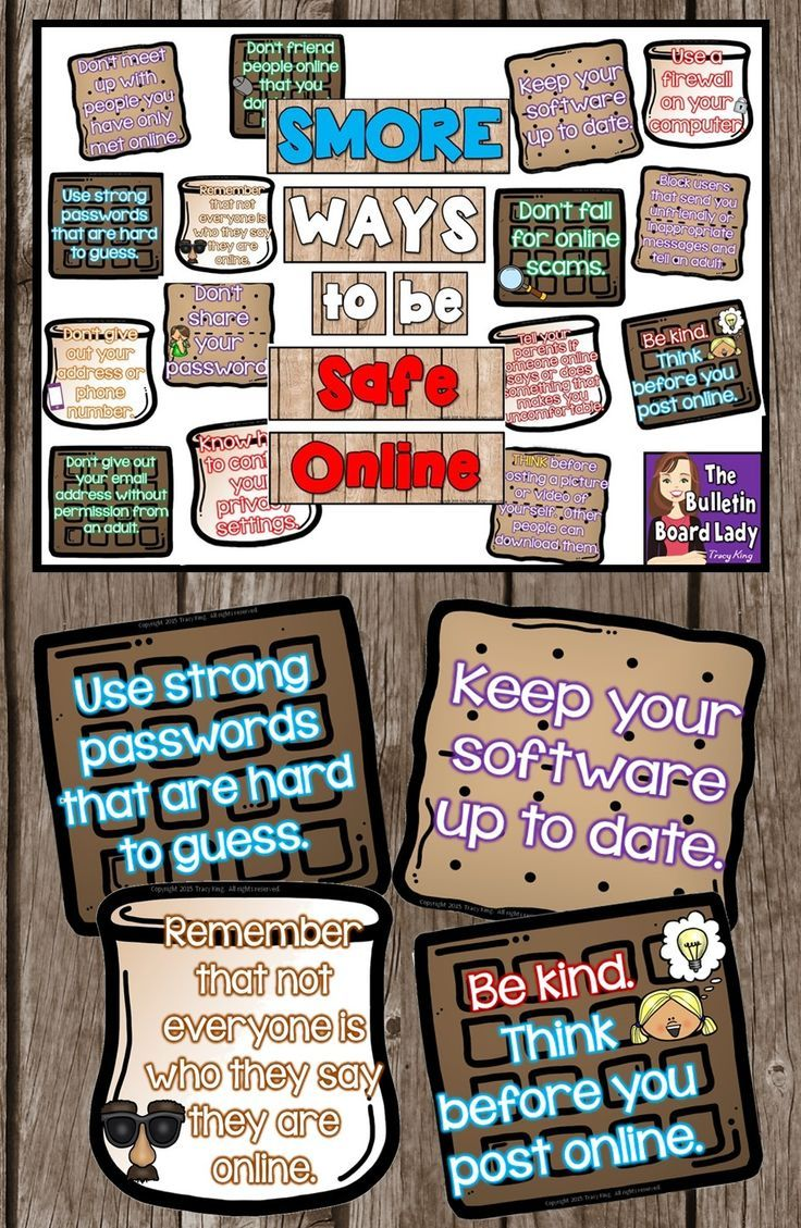 SMORE Ways to Be Safe Online Computer Bulletin Board (With