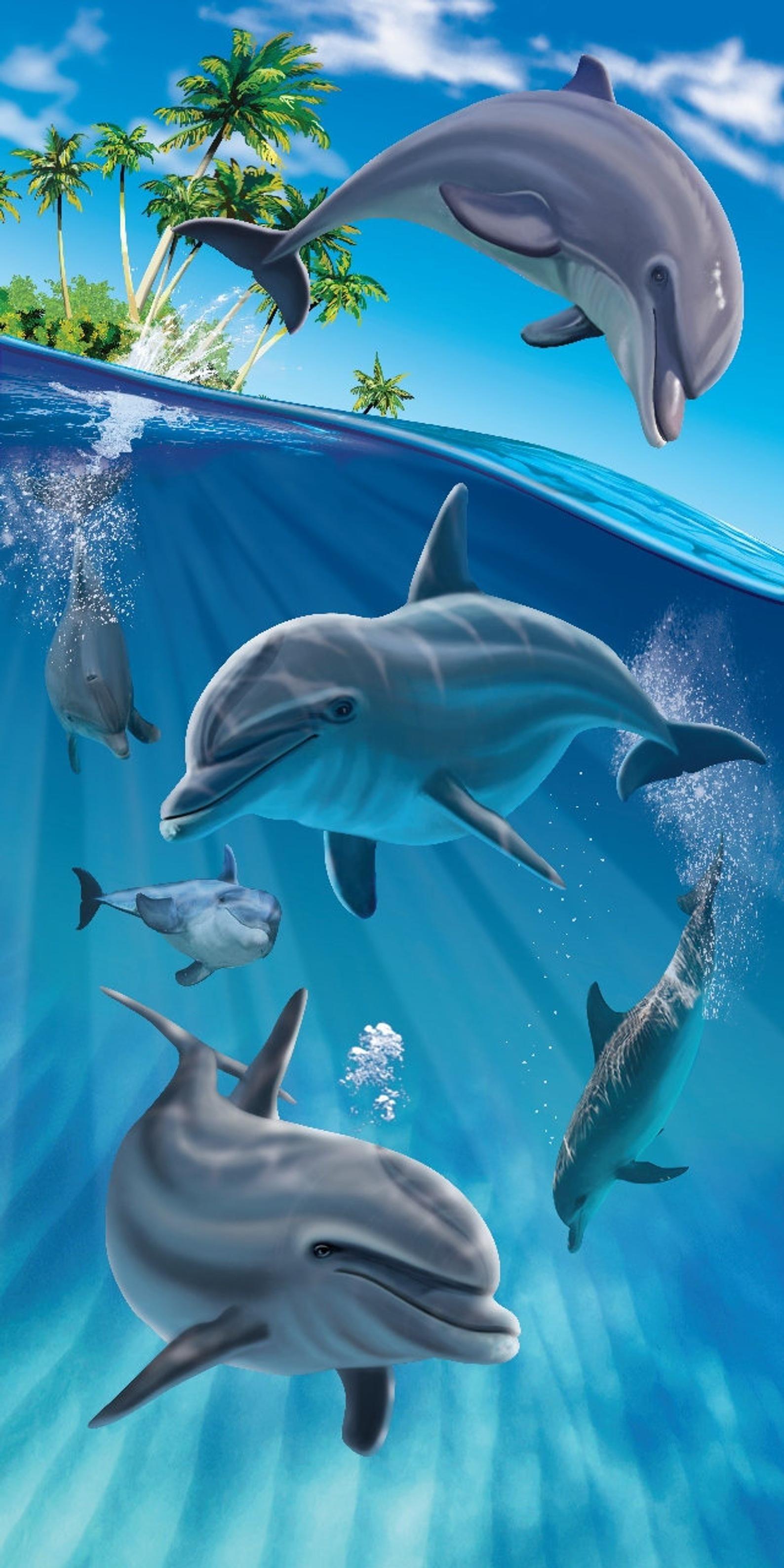 Island Dolphins Beach Towel Etsy Dolphin Beach Towel Dolphin Art Dolphin Photos