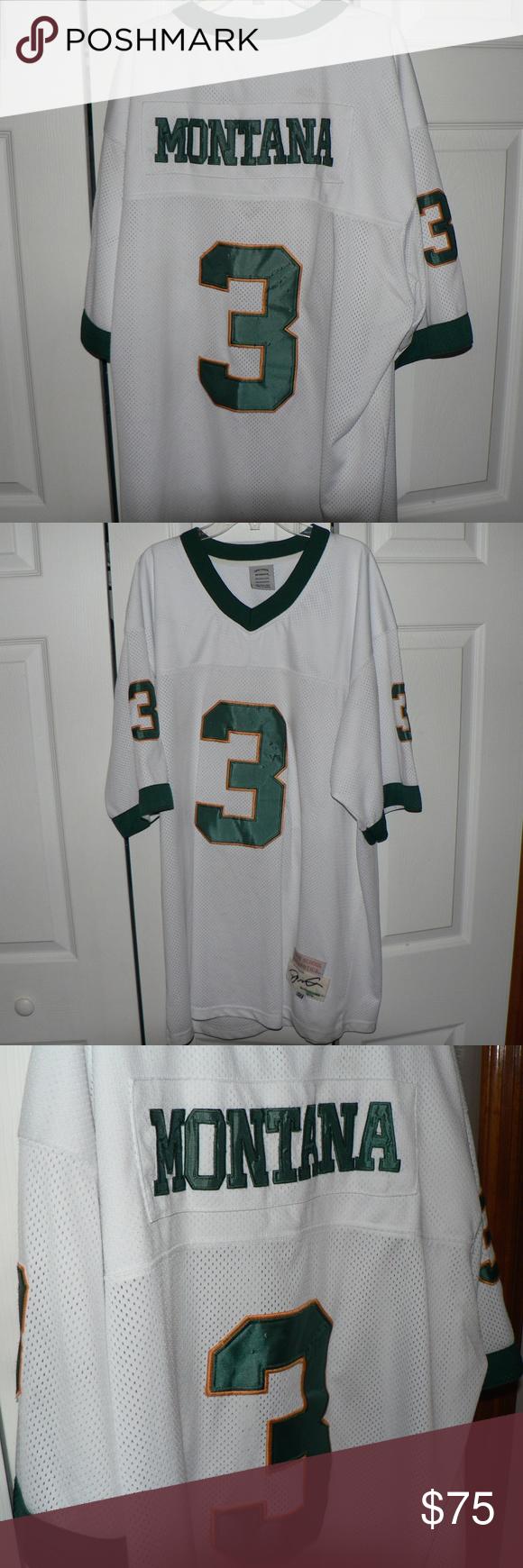 d2860b45655 Vintage Joe Montana Notre Dame Football Jersey True School Athletics Vintage  Notre Dame Fighting Irish Football