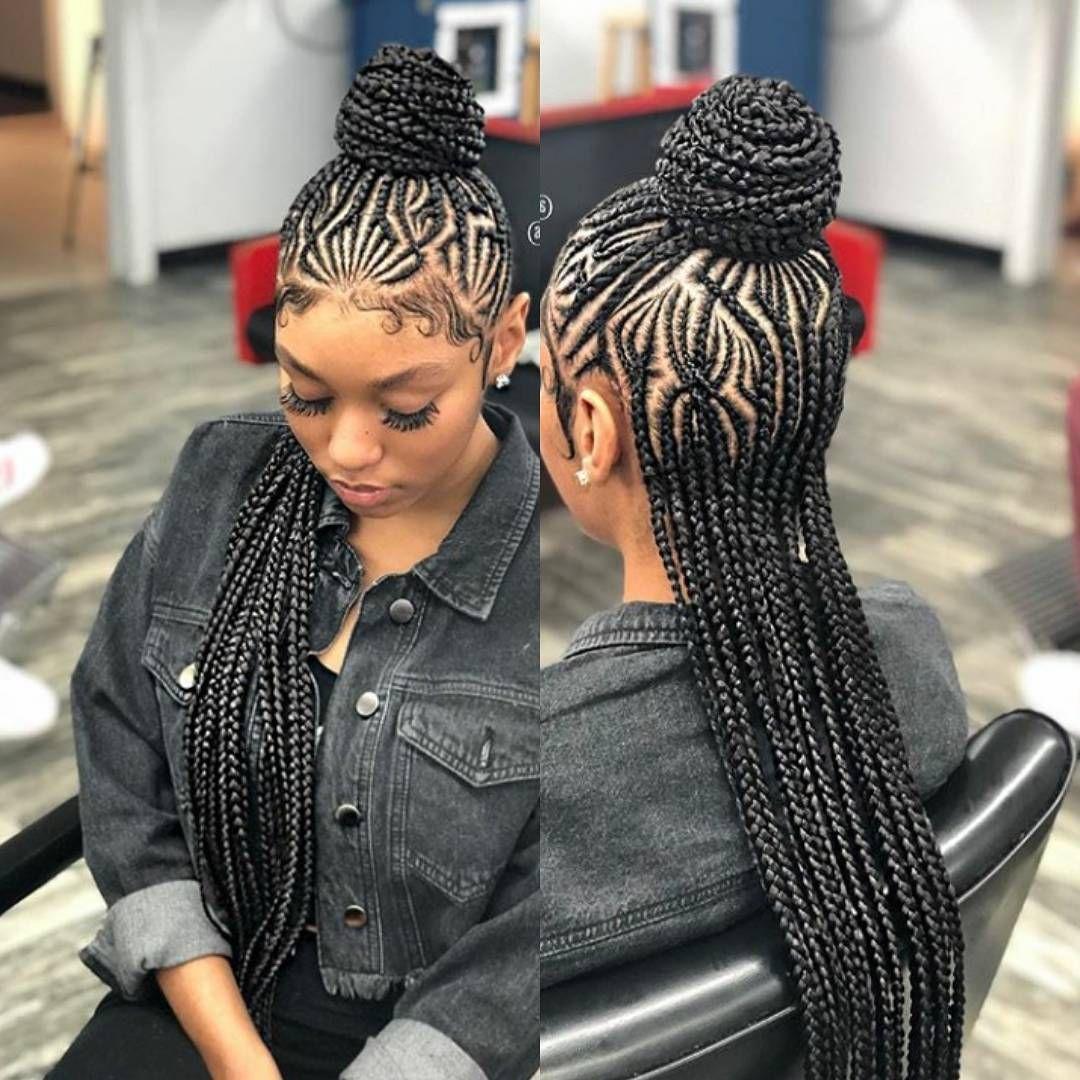 This Is Super Cute I Want My Hair Braided Like This Miamibraids Braids For Black Hair African Braids Hairstyles Hair Styles