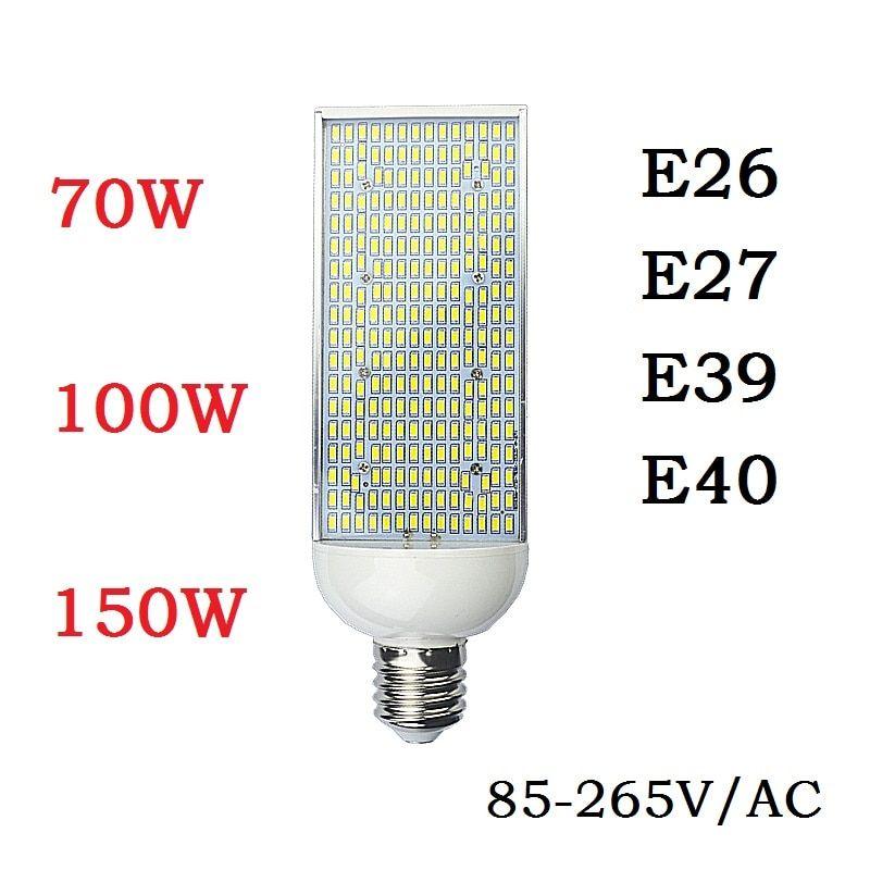 Universe Of Goods Buy E27 E26 E39 E40 Led Street Spot Light 70w 100w 150w Energy Saving High Power Corn Bulb Aluminum Lamp 110 220v Bomb Save Energy Bulb White Light