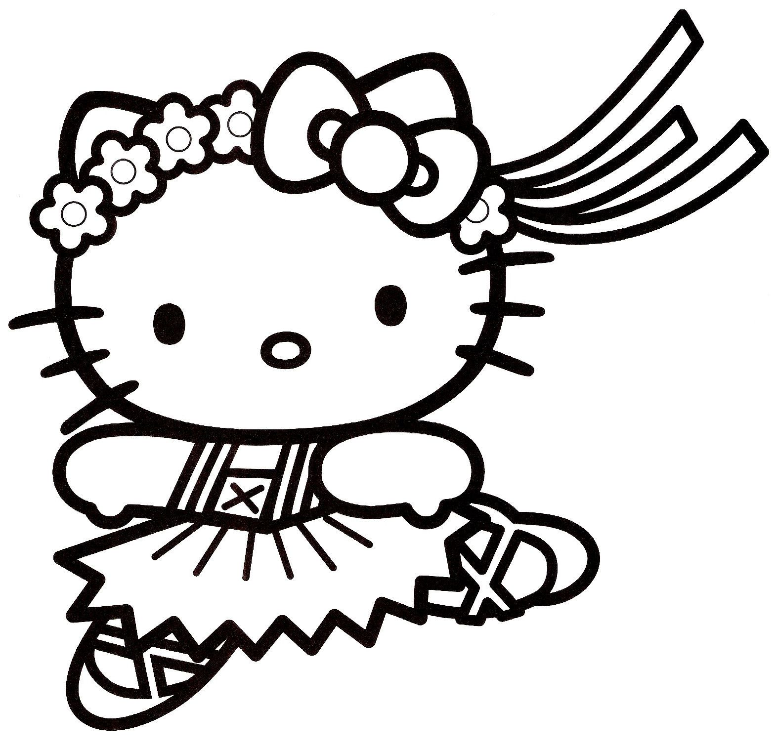 Coloriage hello kitty colorier dessin imprimer taylor pinterest hello kitty kitty - Coloriage hello kitty jeux ...