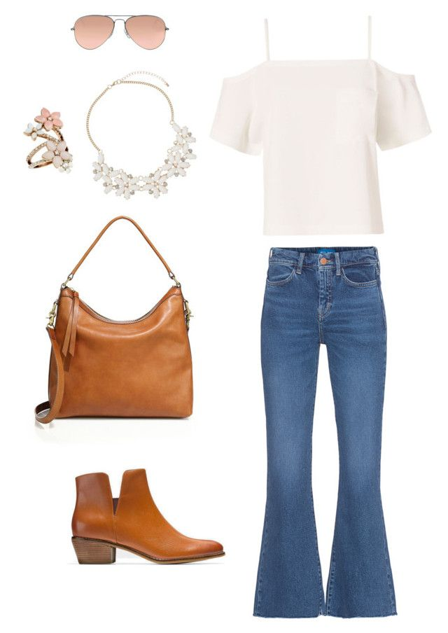 """""""Bellbottom Blues"""" by billandnancy on Polyvore featuring M.i.h Jeans, Frye, Cole Haan, Accessorize, Ray-Ban, Dorothy Perkins and T By Alexander Wang"""