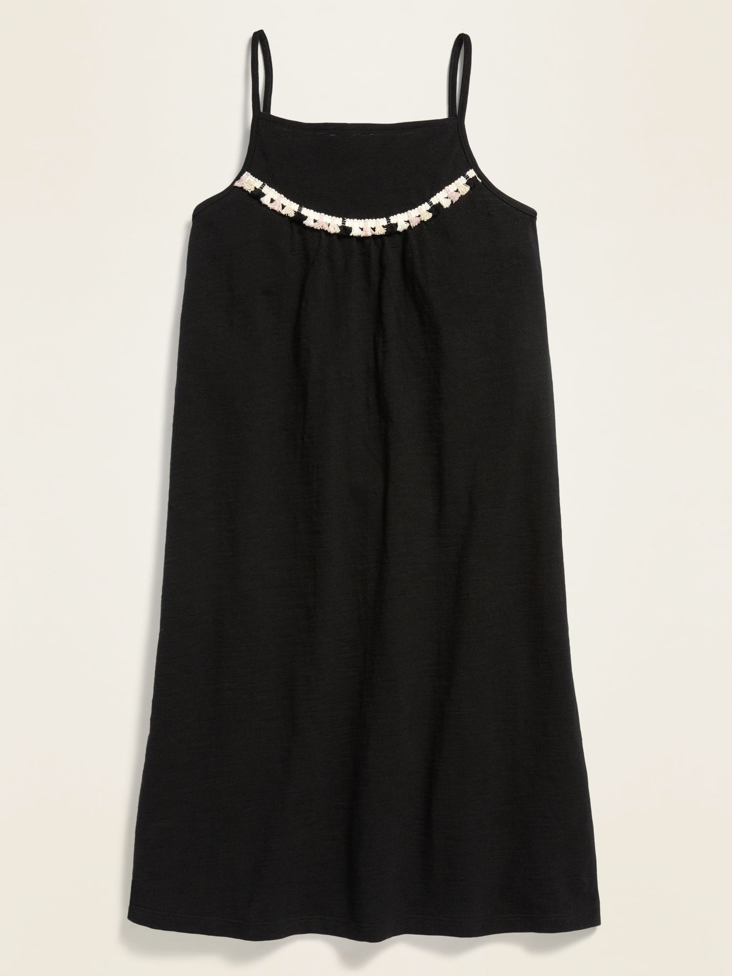 Sleeveless Square-Neck Jersey Dress for Girls