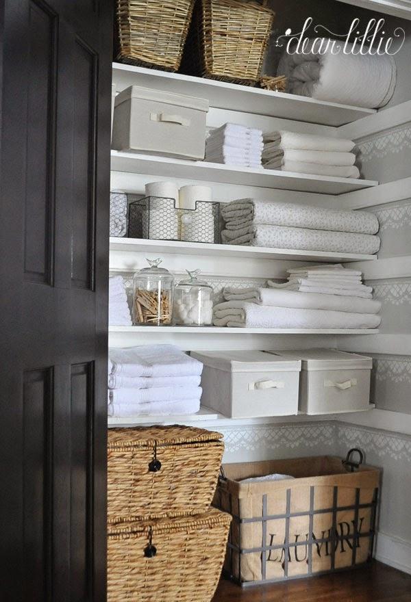 Linen Closet Shelves Wood