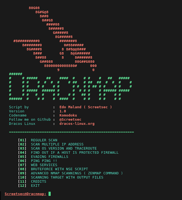 Dracnmap v2 2 - Exploit Network and Gathering Information