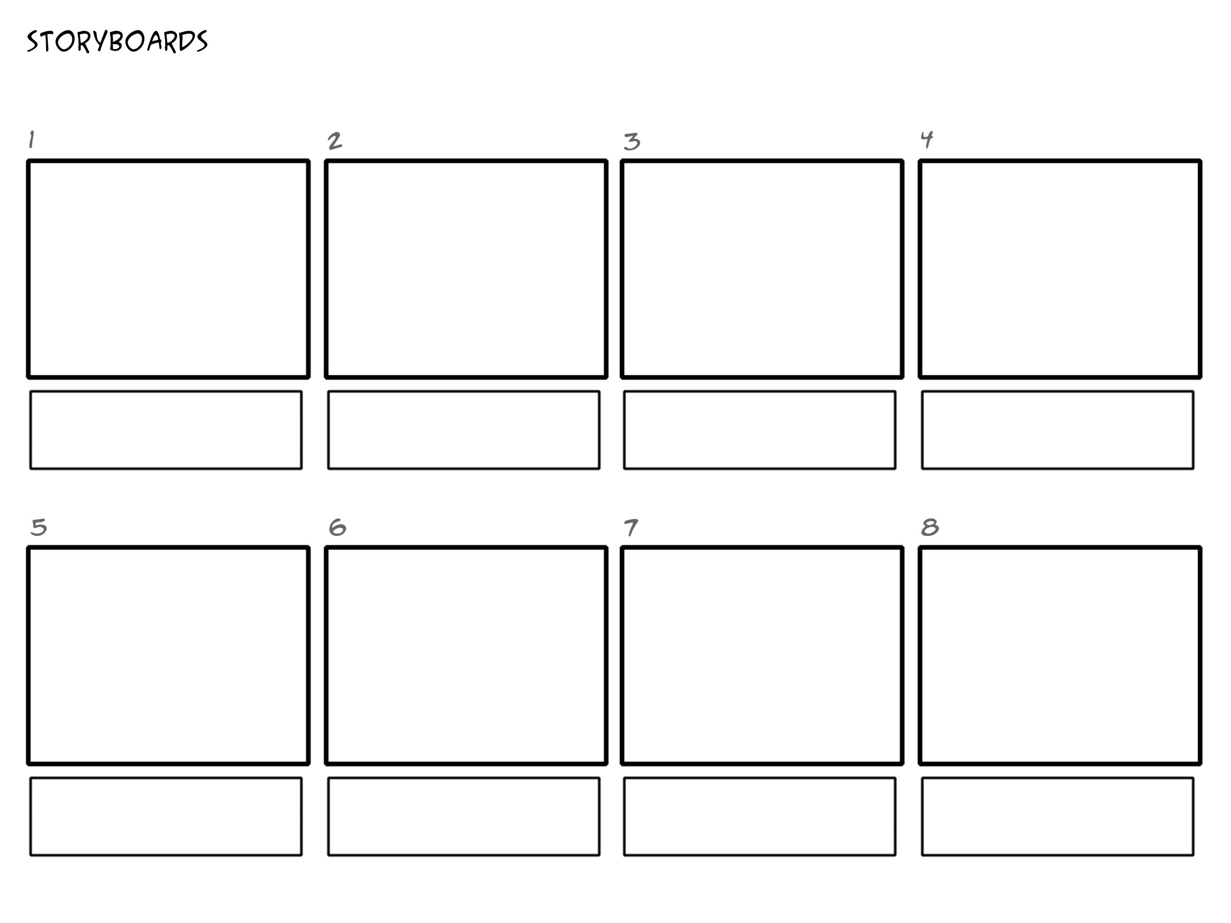 Professional Storyboard Templates  Crafts To Diy