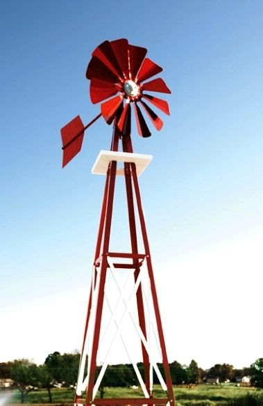This Cute Windmill Is In Our Red Powder Coated Finish Our