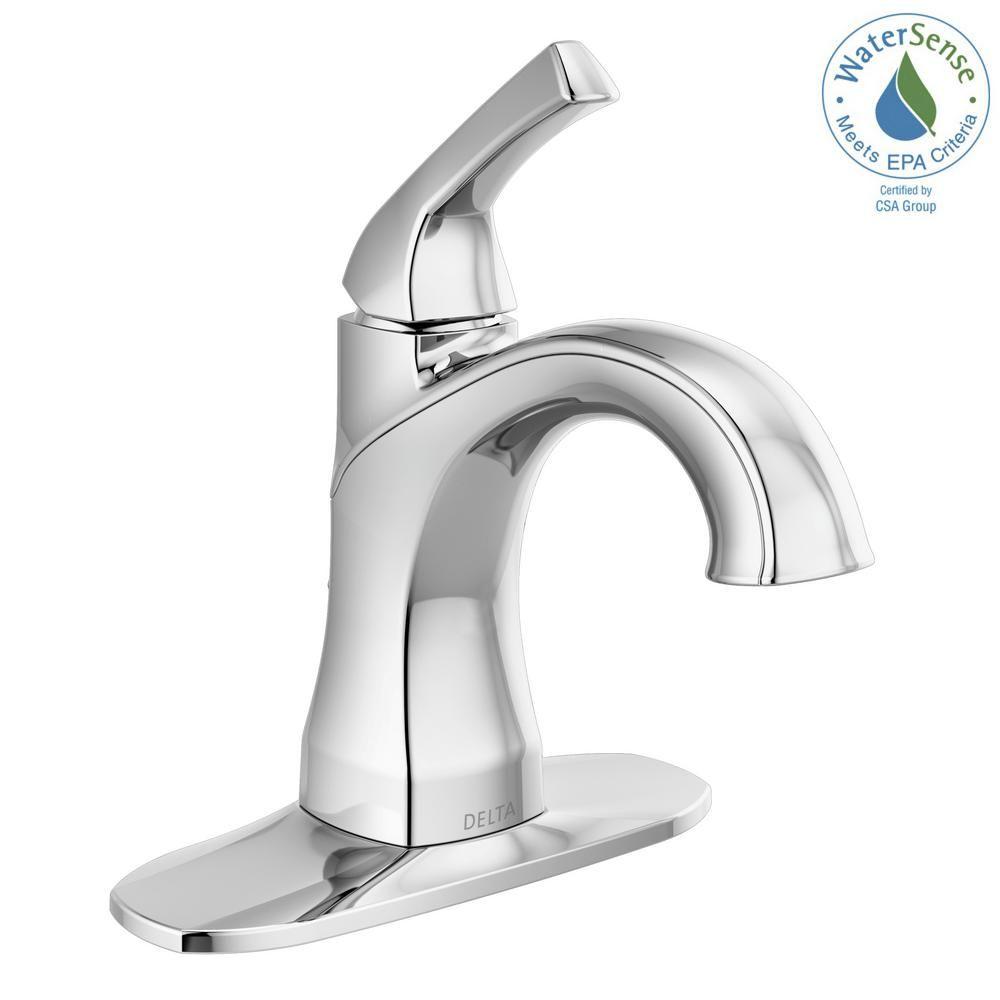 Delta Portwood 4 In Centerset Single Handle Bathroom Faucet In