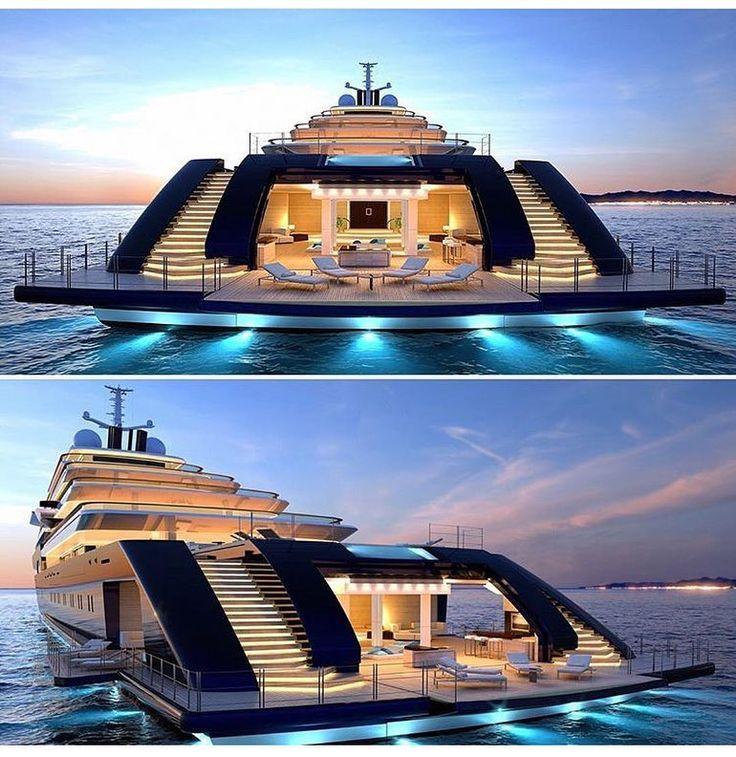 pingl par loic hilliou sur yachts de luxe yacht. Black Bedroom Furniture Sets. Home Design Ideas