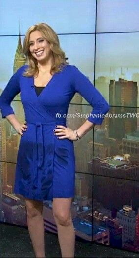 Stephanie Abrams Hot Pics : stephanie, abrams, Stephaine, Hottest, Weather, Girls,, Stephanie, Abrams,, Dresses