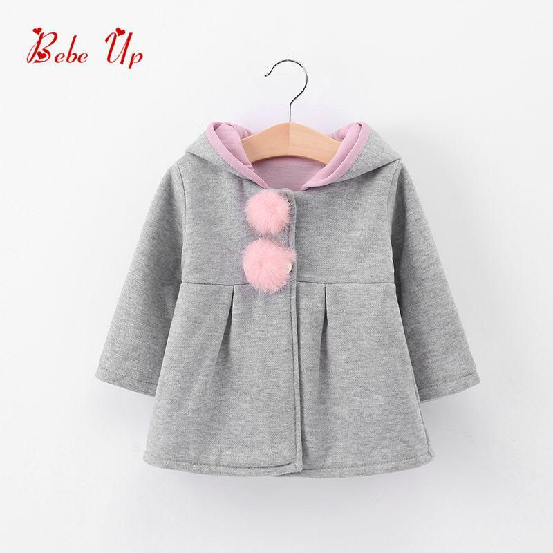 Ears Coat Hooded Keep Warm Wadded Jacket Clothes Cute Rabbit Style Pajamas