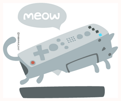 "Tubbypaws Cat Remote! ""last night my cat turned into a wiimote and now he is motion sensitive""#tubbypaws #cat #remote"